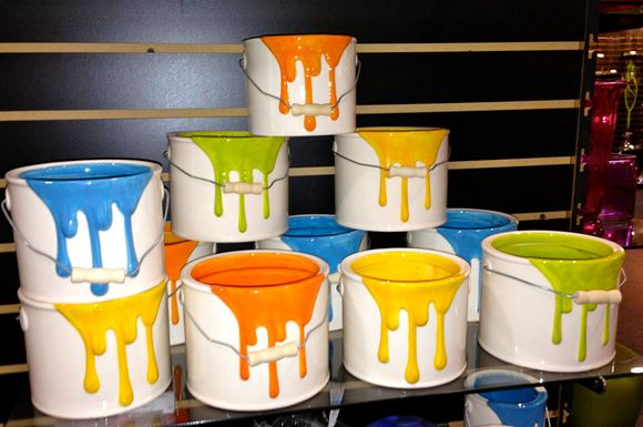 Ceramic Paint Can Planters Pottery Amp Decor Kaw Valley